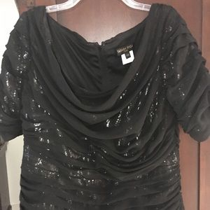 Gorgeous Sequin and chiffon fancy top.  Worn once